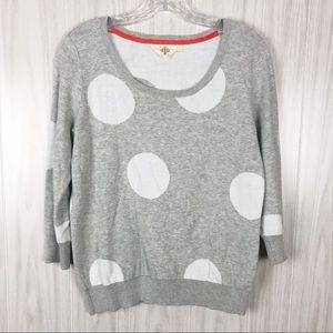 Anthro | Monogram | Polka Dot Sweater